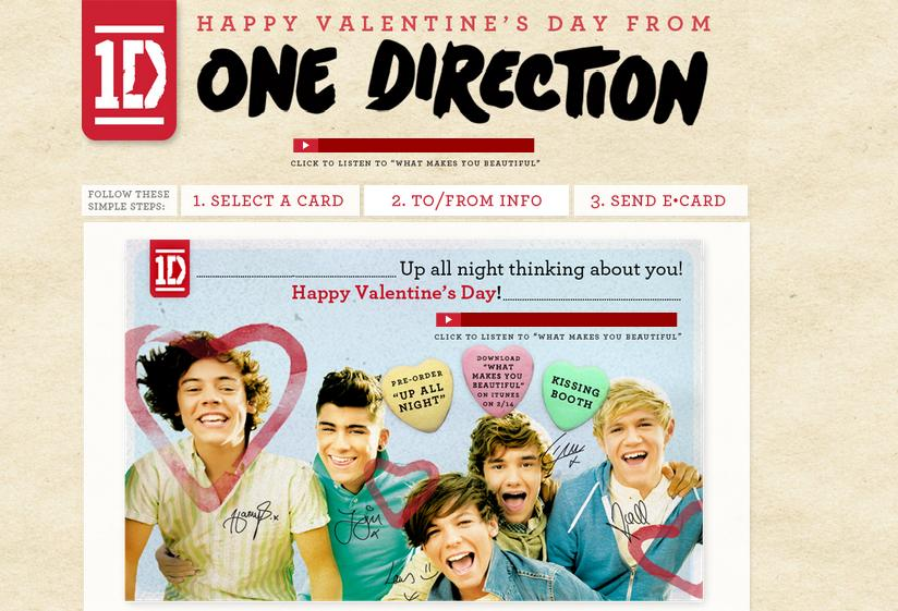 1D E-CARDS: Happy Valentine's Day from One Direction! | One Direction Updates