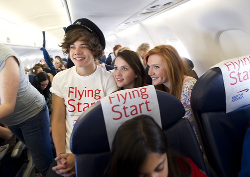 One Direction London To Manchester Comic Relif Charity Flight